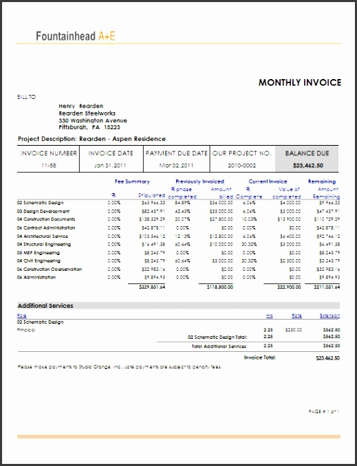Sample Invoices Template Examples sample of invoices