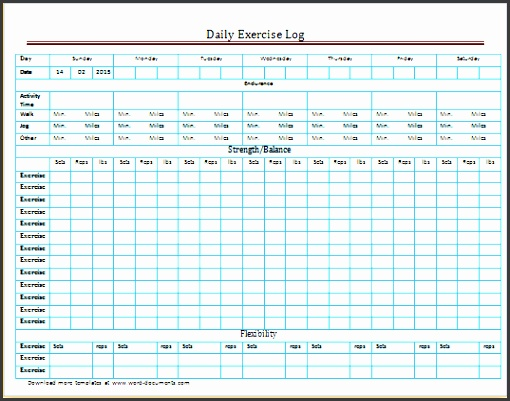 exercise log excel