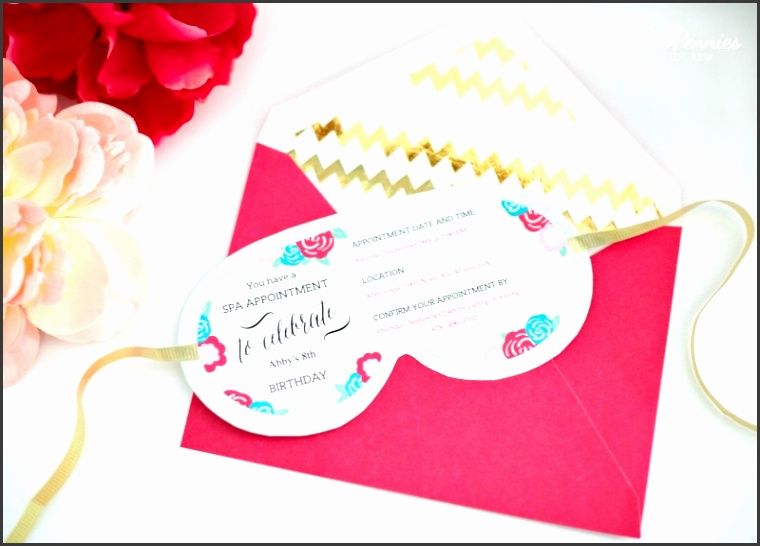 5 eye mask template for invitation sampletemplatess for Spa mask invitation template