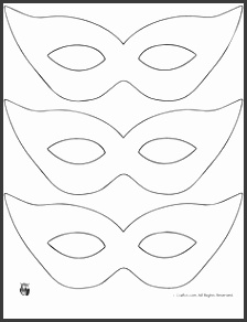 Mardi Gras Mask Craft and Template Printable Masquerade Mask Pattern Template – Craft Jr