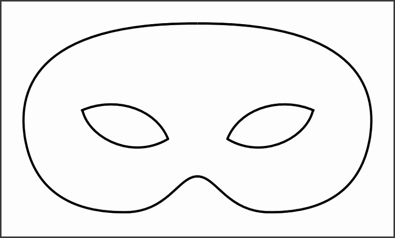 Masquerade mask template for adults