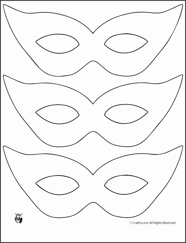 Mardi Gras Mask Craft and Template Printable Masquerade Mask Pattern Template – Craft Jr