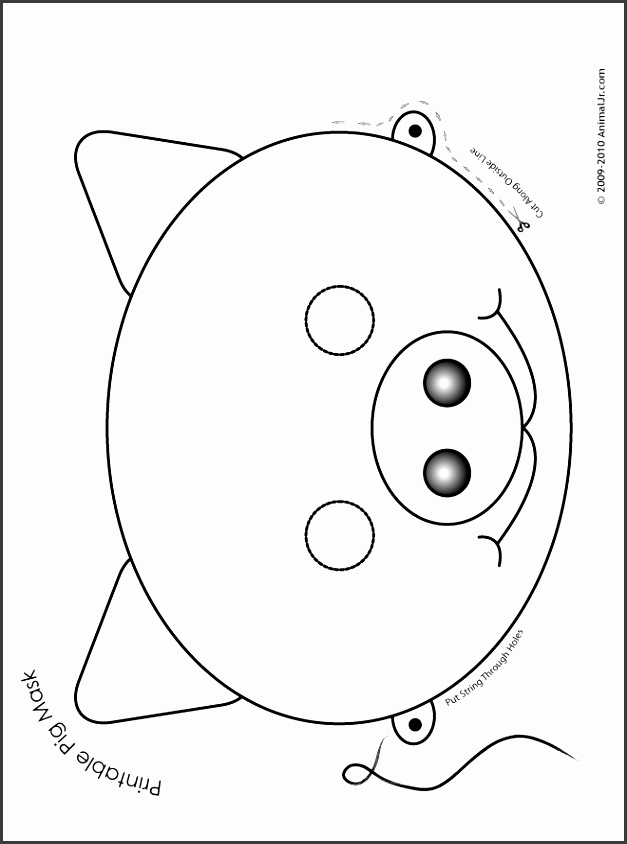 8 pig mask template 10 cutest animal masks templates black white printable pig mask coloring page