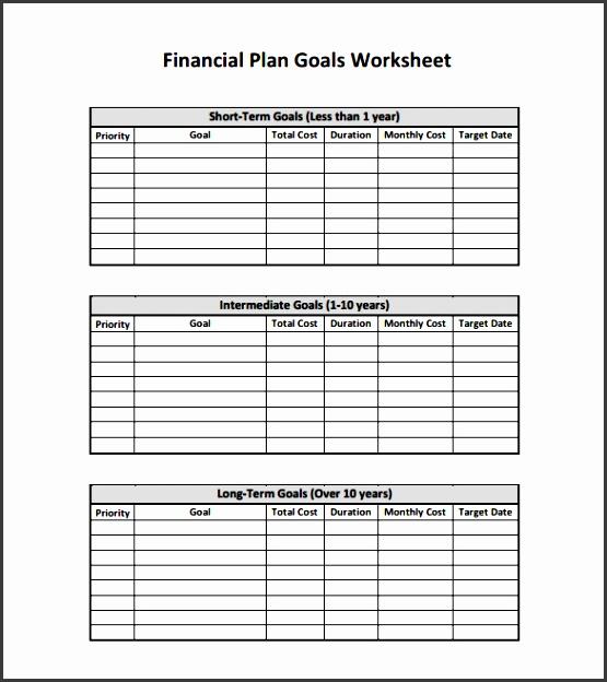 personal financial plan pdf template free download