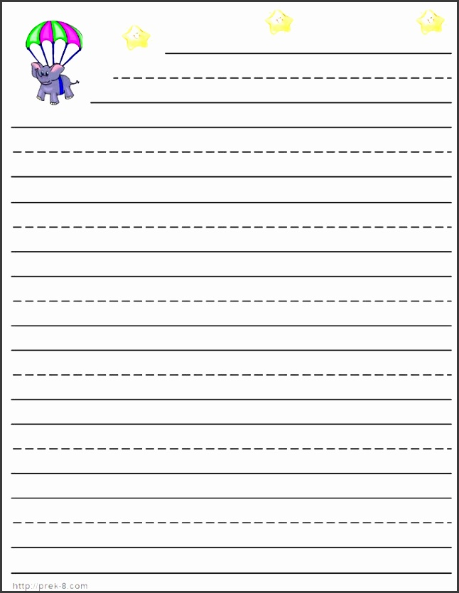 1st Grade Lined Paper Template Sbsgn Elegant Best S Lined Paper for First Grade Primary