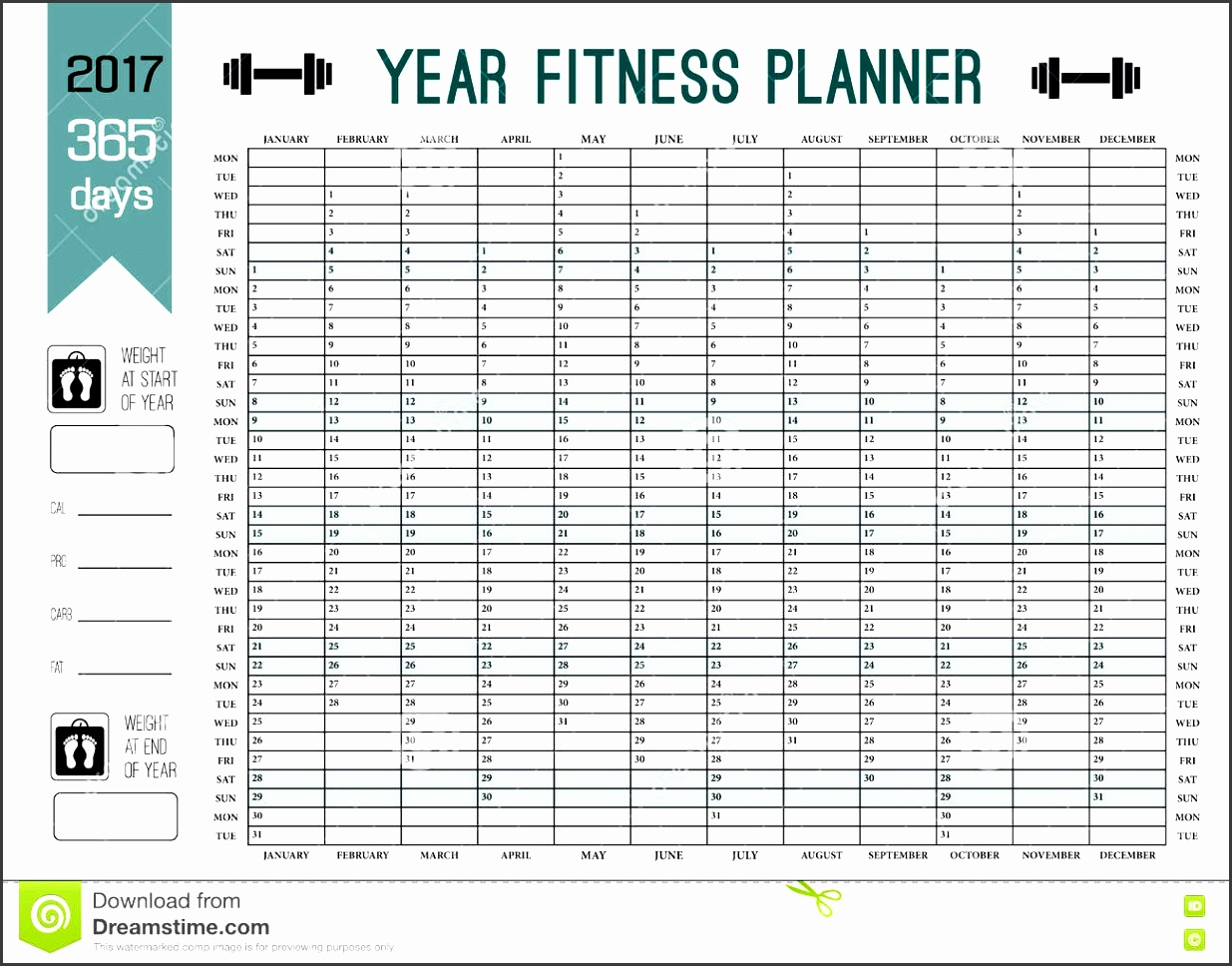 year wall planner template plan out your whole fitness calendar vector design sport diet 78246382
