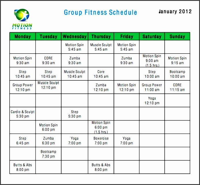 fitness calendar template 777 resize729669