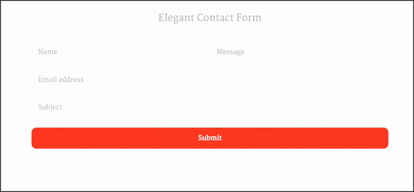 contact form template