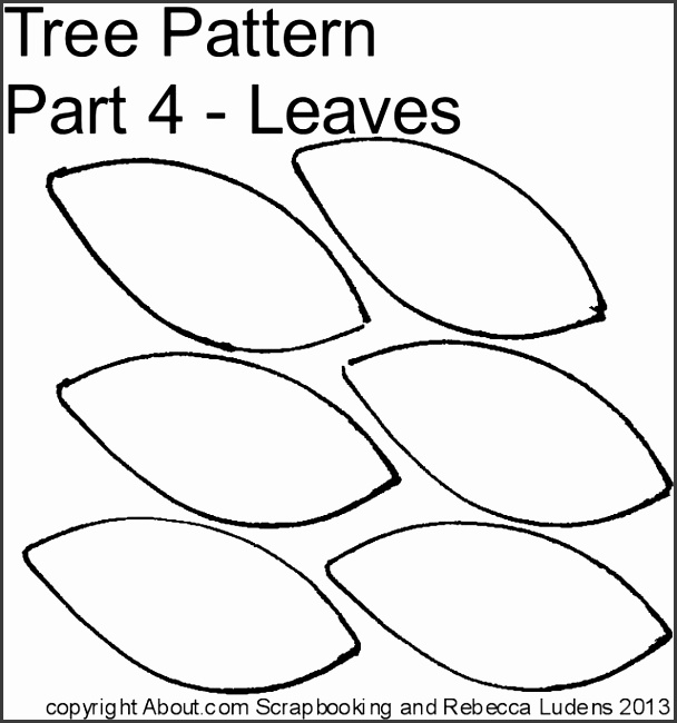Tree Leaf Cut Out Pattern