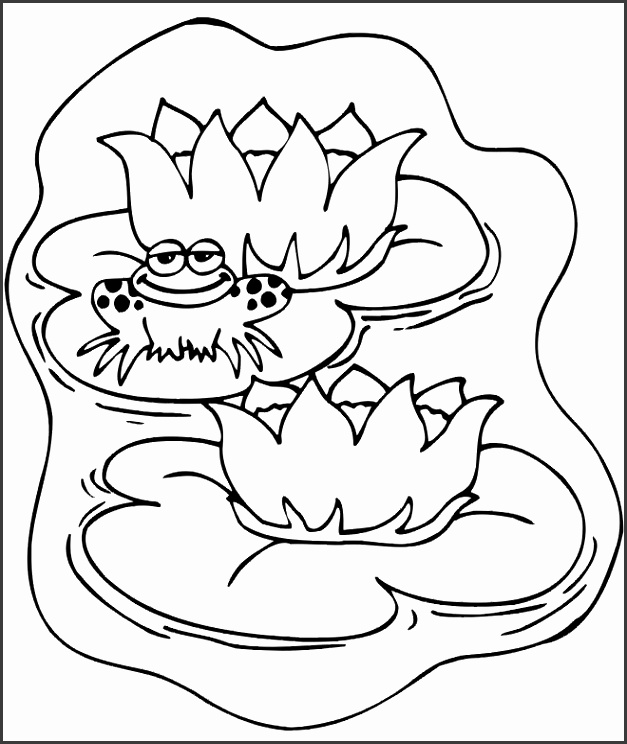 Frog Animal Coloring Pages For Kids