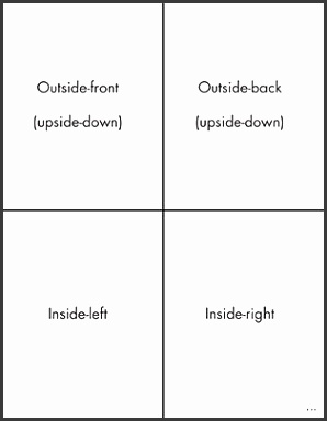 Quarter fold card patible print folded template printing your own greeting cards in word dummies