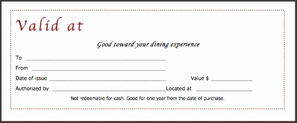 Food Gift Certificate Template Download Restaurant Gift Certificate Templates Wiki Free
