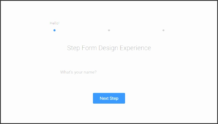 Demo Image Step by Step Form Interaction