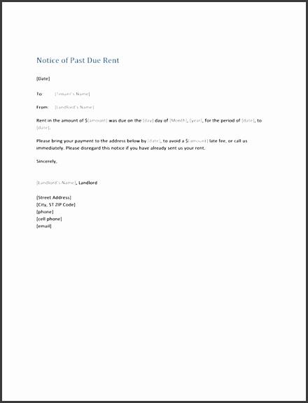 Notice Past Due Rent Form Letter fice Templates for Past Due Letter