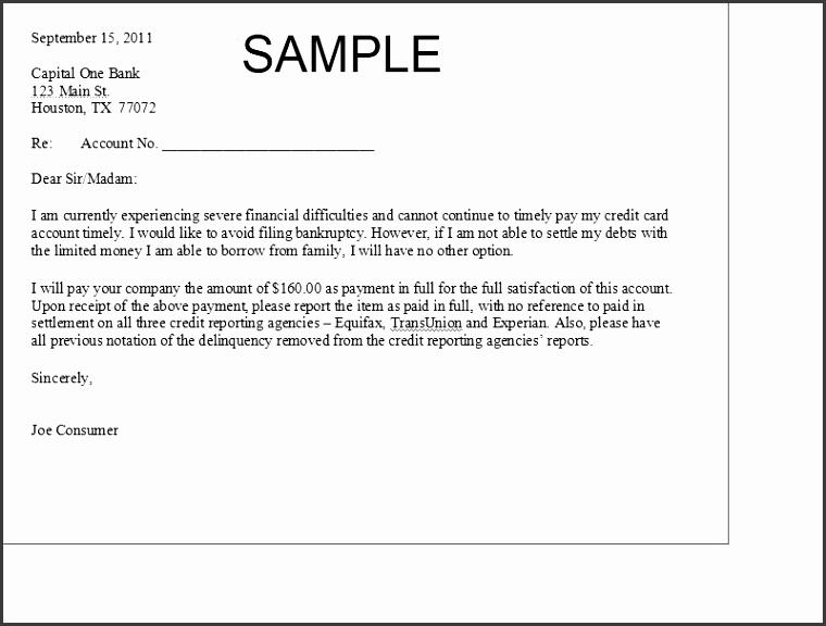 Printable Sample Settlement Letter Form