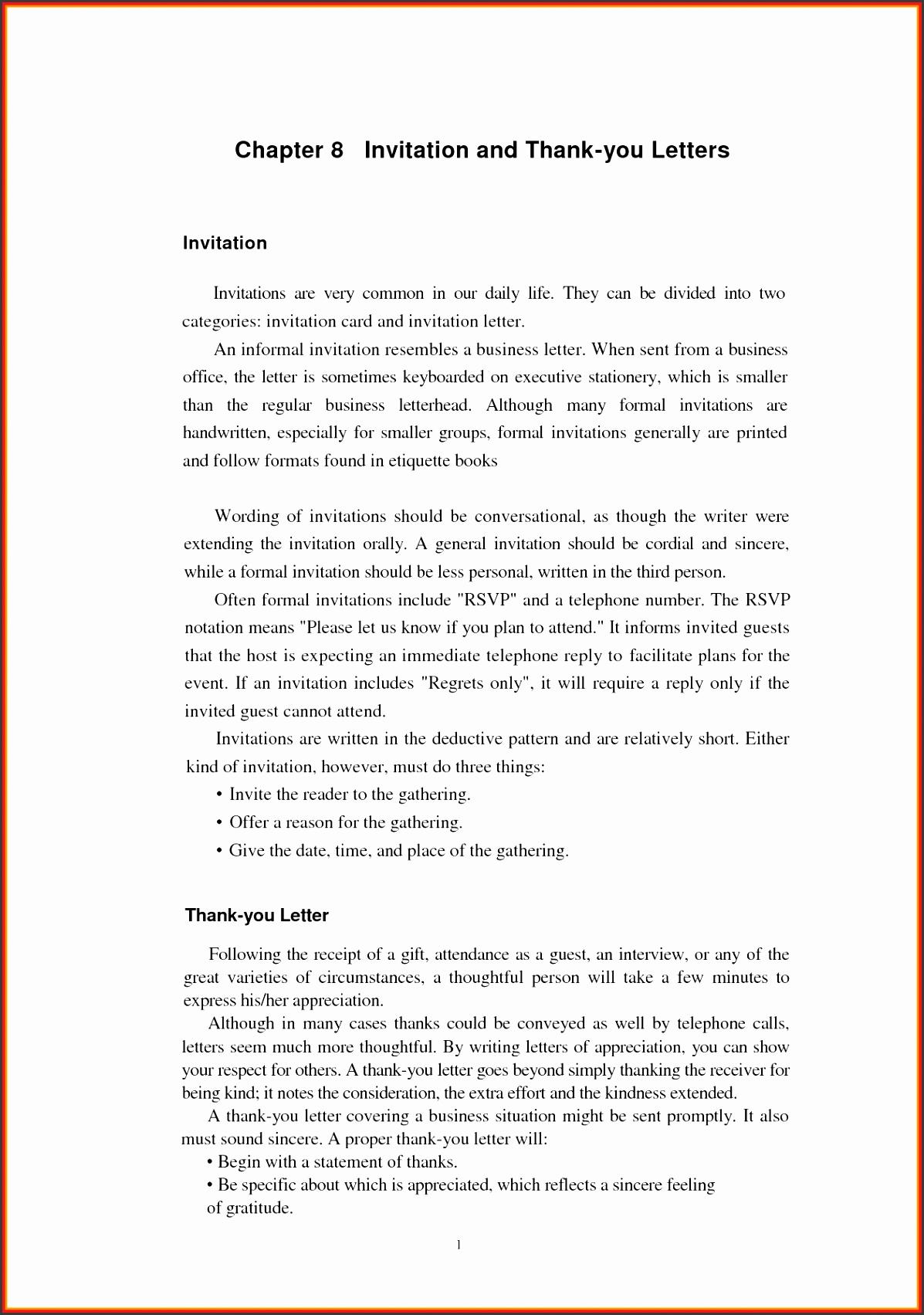 formal invitation letter format sample 4 caption