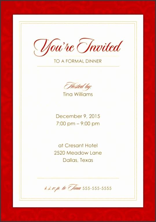 9 formal dinner party invitation wording