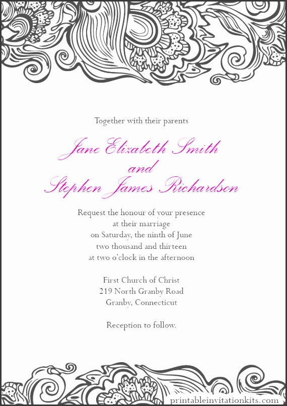 Wedding Invitation Borders should be your inspiration you to make amazing invitations designs