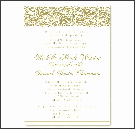 formal invitation card template personalized wedding formal invitation template