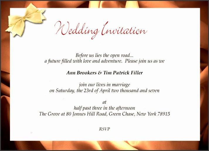Wedding invites traditionally