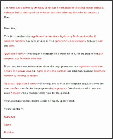 Business Invitation Letter for Visa