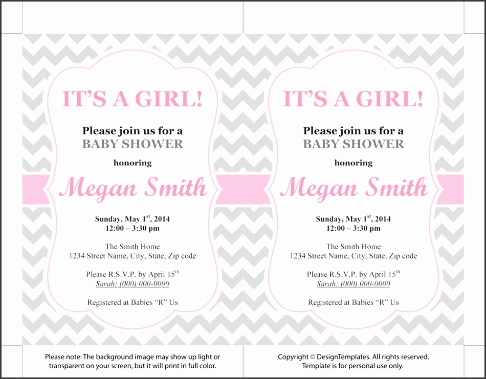 free baby shower invitation templates microsoft word Baby shower invitation