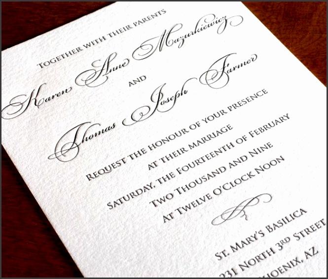 anne letterpress wedding invitation elegant invitation design