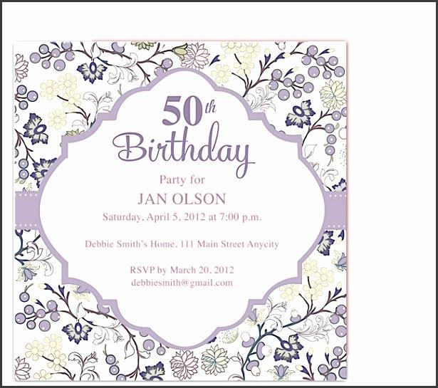 Birthday Invites Latest 50Th Birthday Invitation Template As Prepossessing Ideas Free Printable Birthday Party Invitations