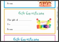 Gallery of Birthday Gift Certificate Template Free