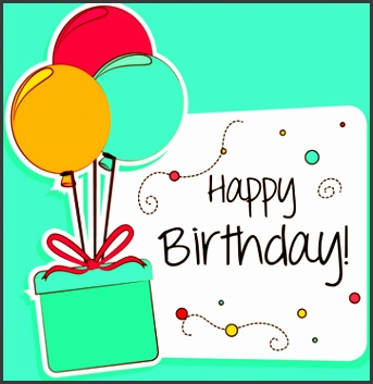 cartoon style happy birthday greeting card template
