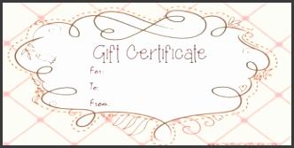free printable pink t certificate with a brown drawing