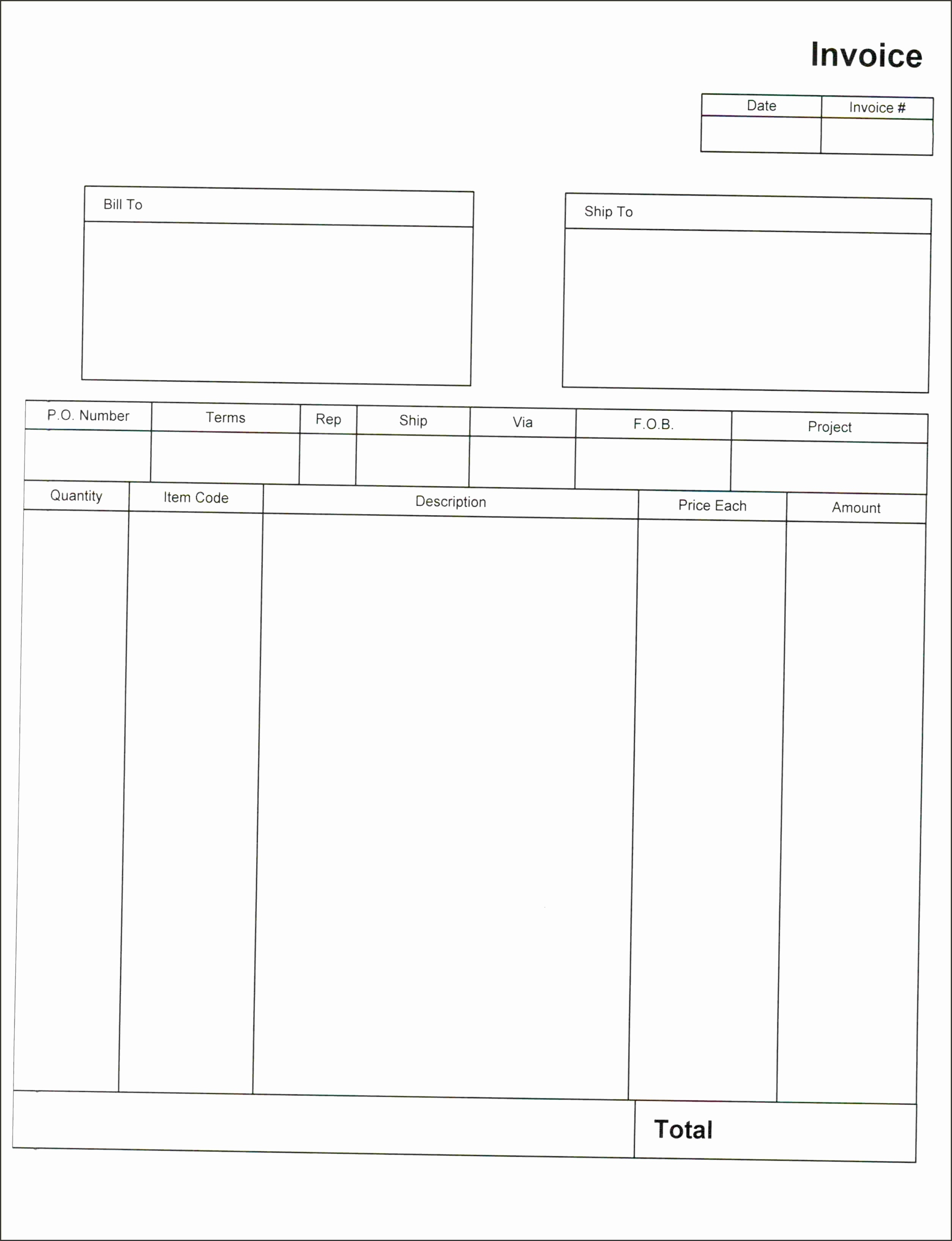 Blank Invoice Template Download Invoice Template Trakore Template Design Blank Invoice Template Pdf Authorization Letters Regarding