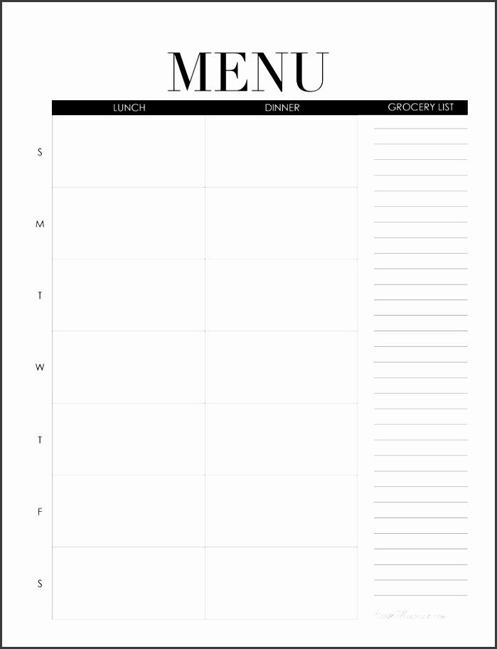 Best 25 Weekly menu printable ideas on Pinterest Weekly meal blank menu template