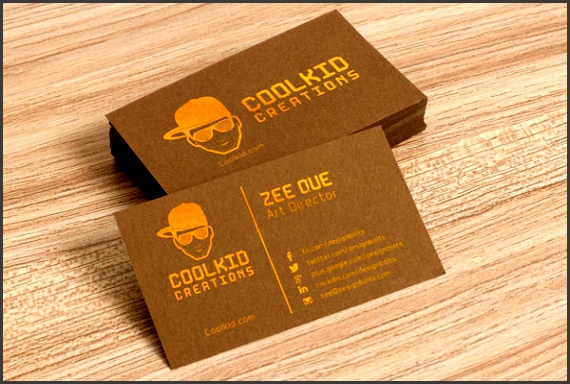 Free Brown Business Card Design Template & Mockup PSD