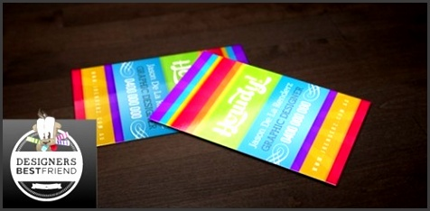 free bright and colorful business card template psd