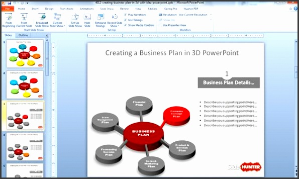 3D Business Plan Diagram Idea for PowerPoint You can this free PowerPoint template