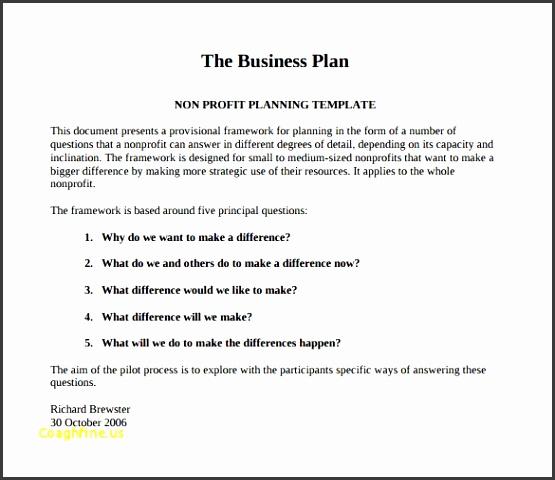 Business Plan Templates Pdf Awesome Non Profit Business Plan Template 21 Free Word Pdf Documents