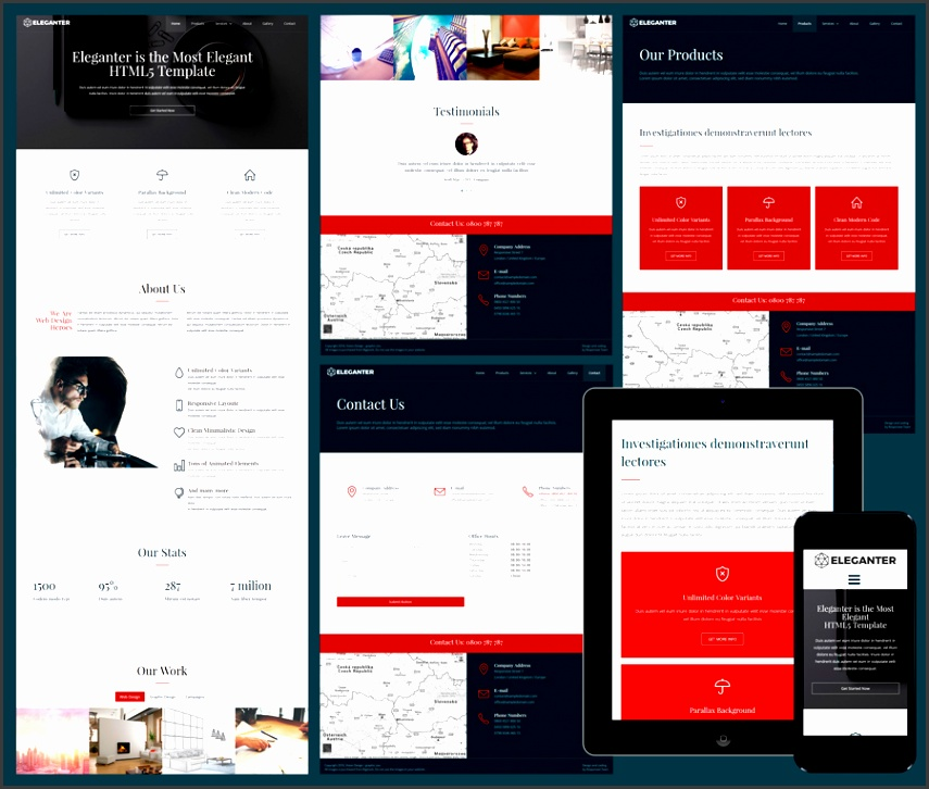 Eleganter free elegant business template