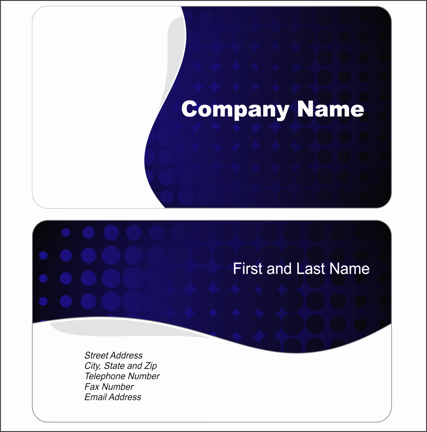 free business cards templates for word 1 8 free