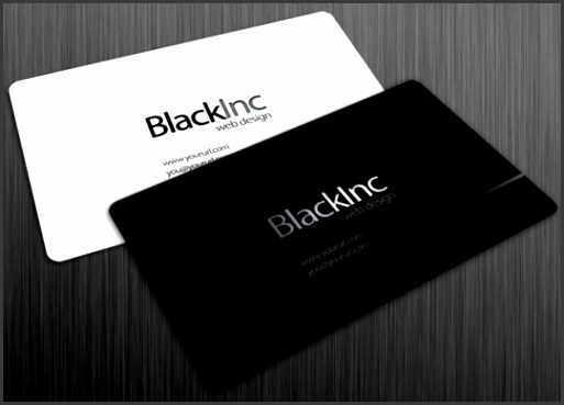 Black Inc free business card by robbythedesigner