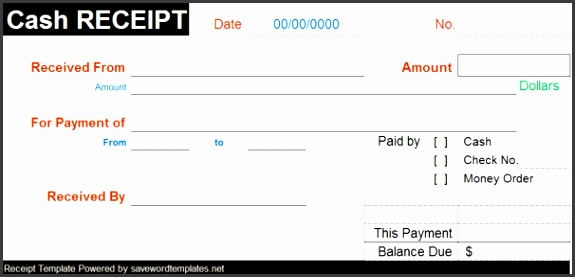 which provides the records of cash sales referred as Cash Receipt cash receipt template word