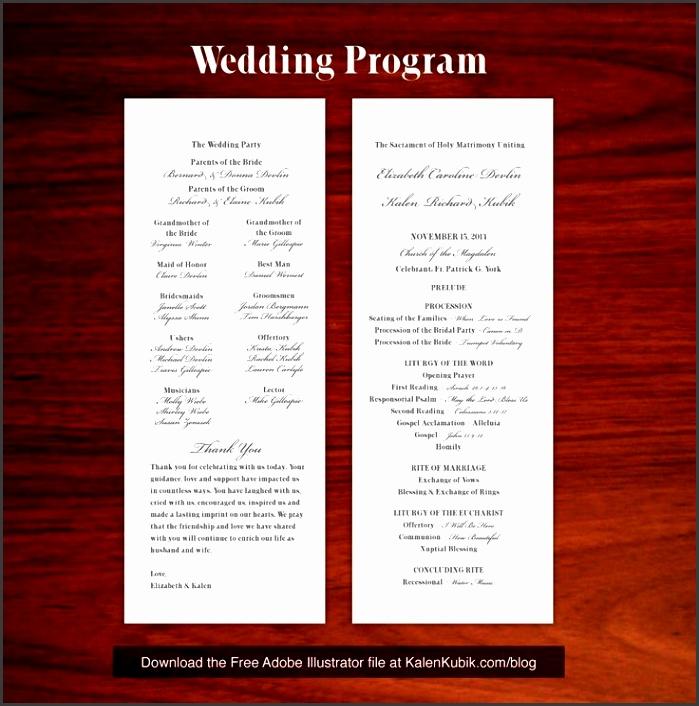 Free DIY Catholic Wedding Program AI Template I m a professional graphic designer and