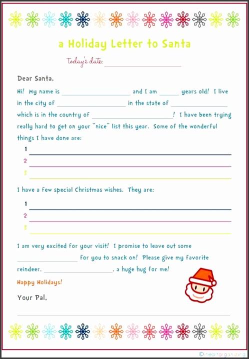 Freebie Letter to Santa Kids Party Craft Idea