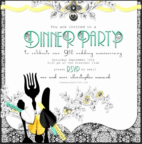 Free Dinner Party Invitation Template Dinner Party Invitation Template Gangcraft Ideas