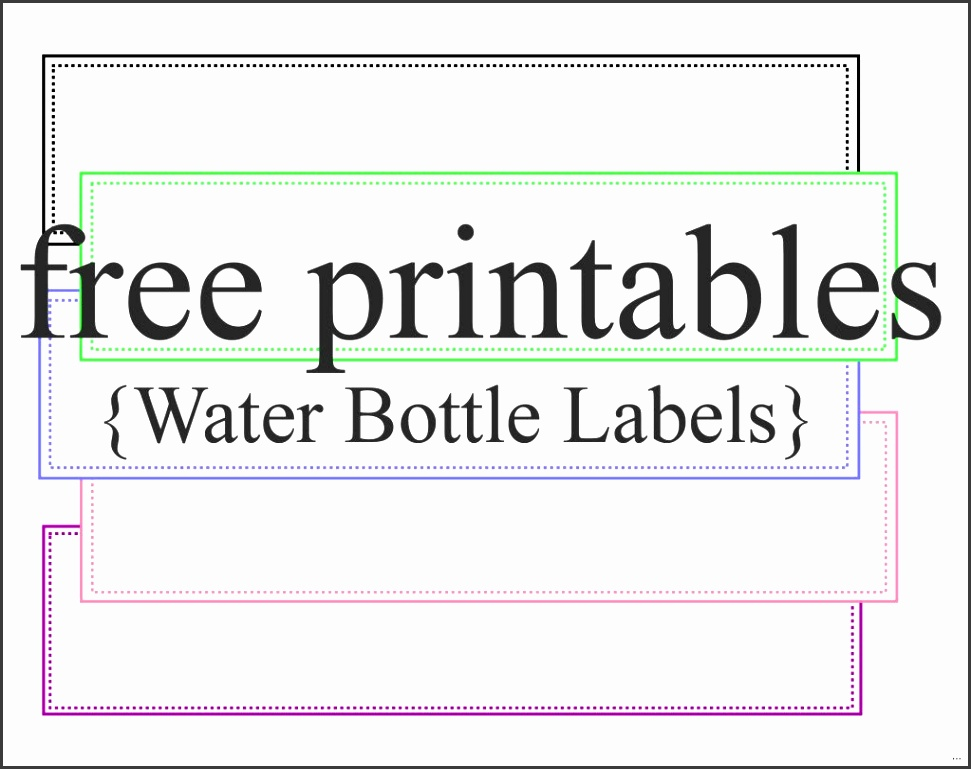 Diy water bottle label template release photos printable labels