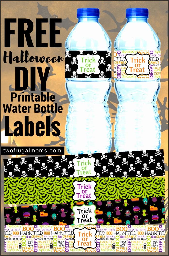 FREE Halloween DIY Printable Water Bottle Labels two frugal moms 2