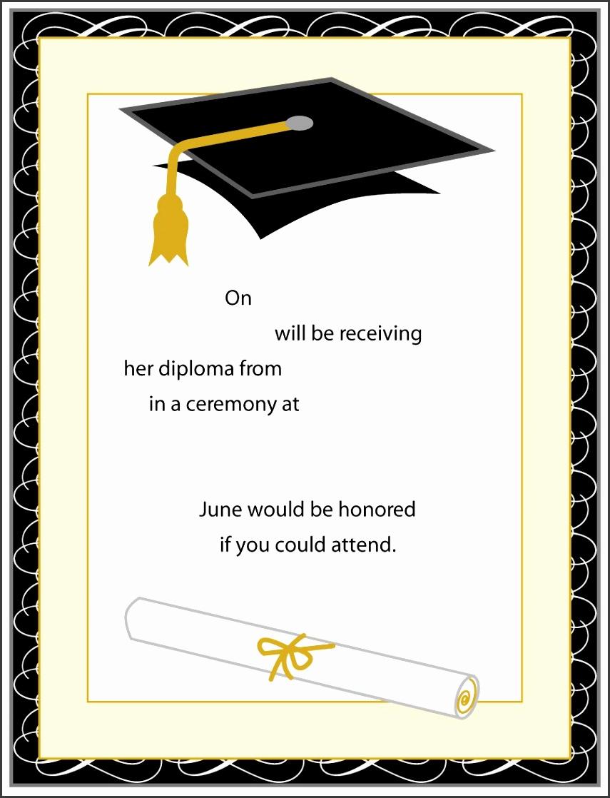 Graduation Invitations Templates for inspirational terrific 3