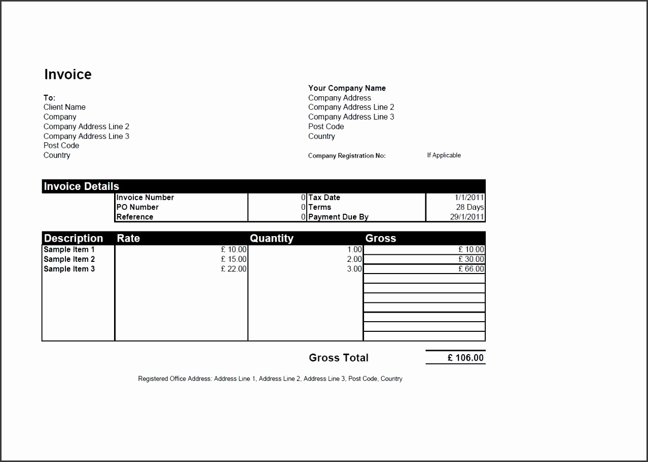 Preview invoice template as picture