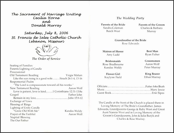 free printable wedding programs templates