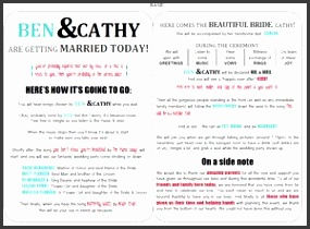 Modern Wedding Program Templates from Wedding Creations